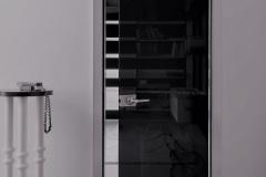 PUERTAS INTERIORES - Puerta de vidrio con marco de aluminio