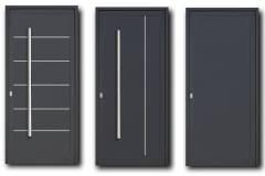 PUERTAS EXTERIORES - Puertas con panel de aluminio 25mm